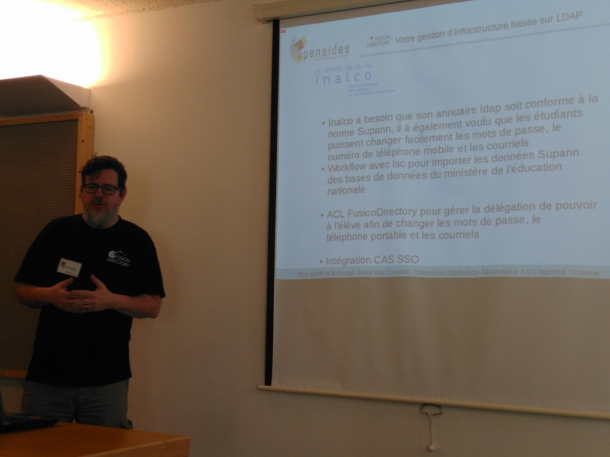 Benoit Mortier présente le cas concret de l'inalco