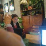 Clement Oudot et soisik froger de Savoir-Faire Linux et Antoine Gallavardin de irstea