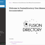 readthedocs fusiondirectory