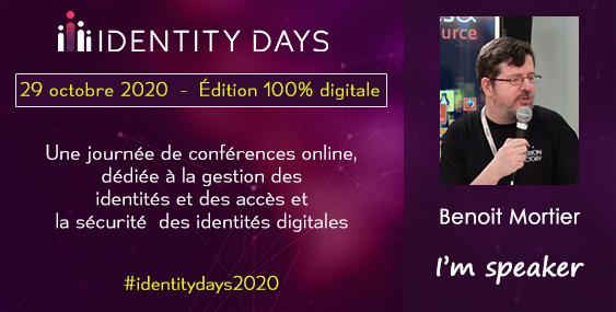 Benoit Mortier est conférencier au Identity Days 2020