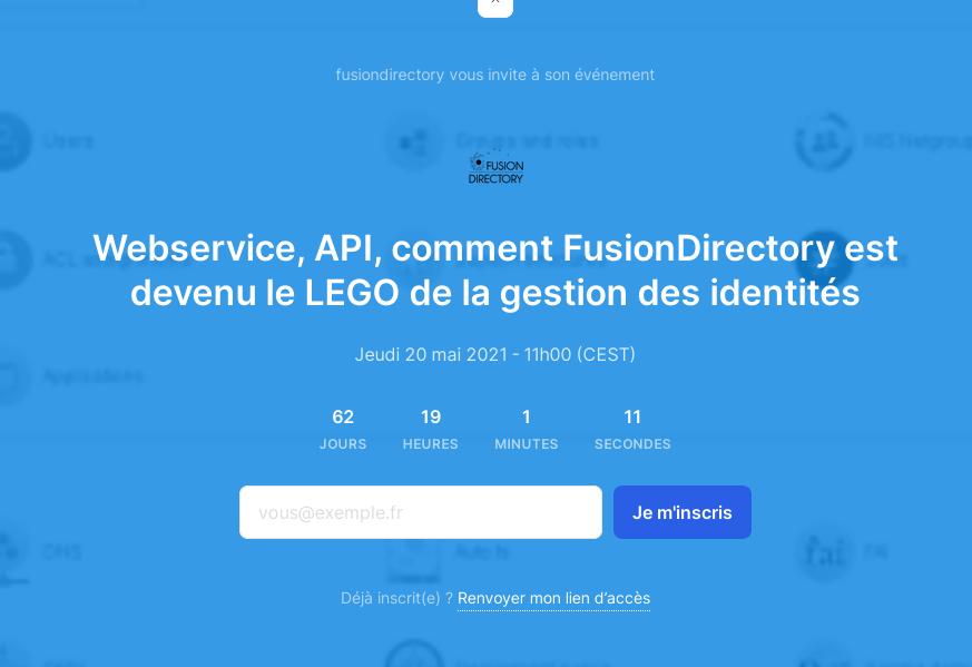 Webservice, API, comment FusionDirectory est devenu le LEGO de la gestion des identités
